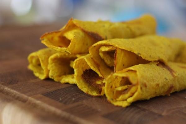 Karfiolové tortilly, placky, palacinky
